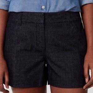 Ann Taylor signature denim shorts size 8